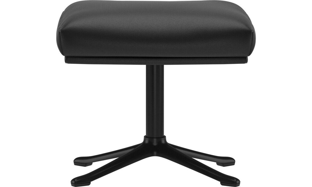 Footstools - Reno footstool - Black - Leather