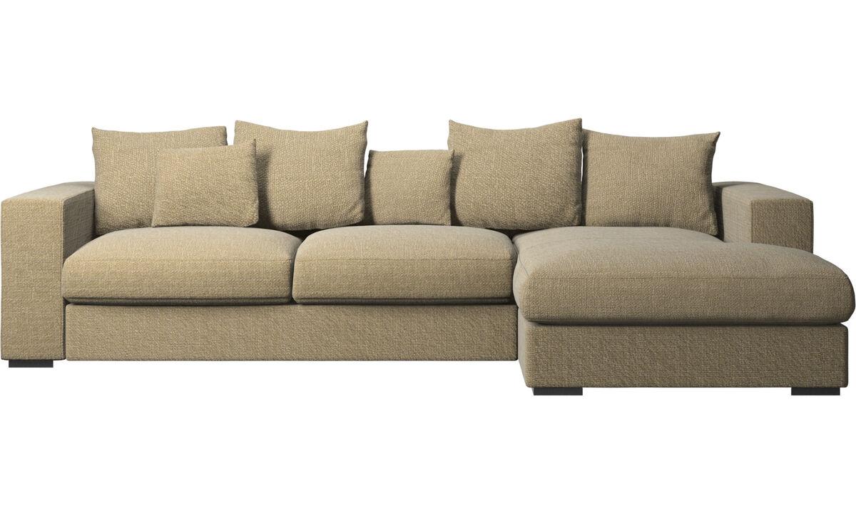 Sofas mit Récamiere - Cenova Sofa mit Ruhemodul - Gelb - Stoff