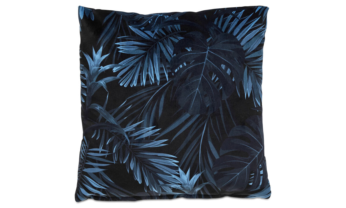 Patterned cushions - Palm cushion - Blue - Fabric