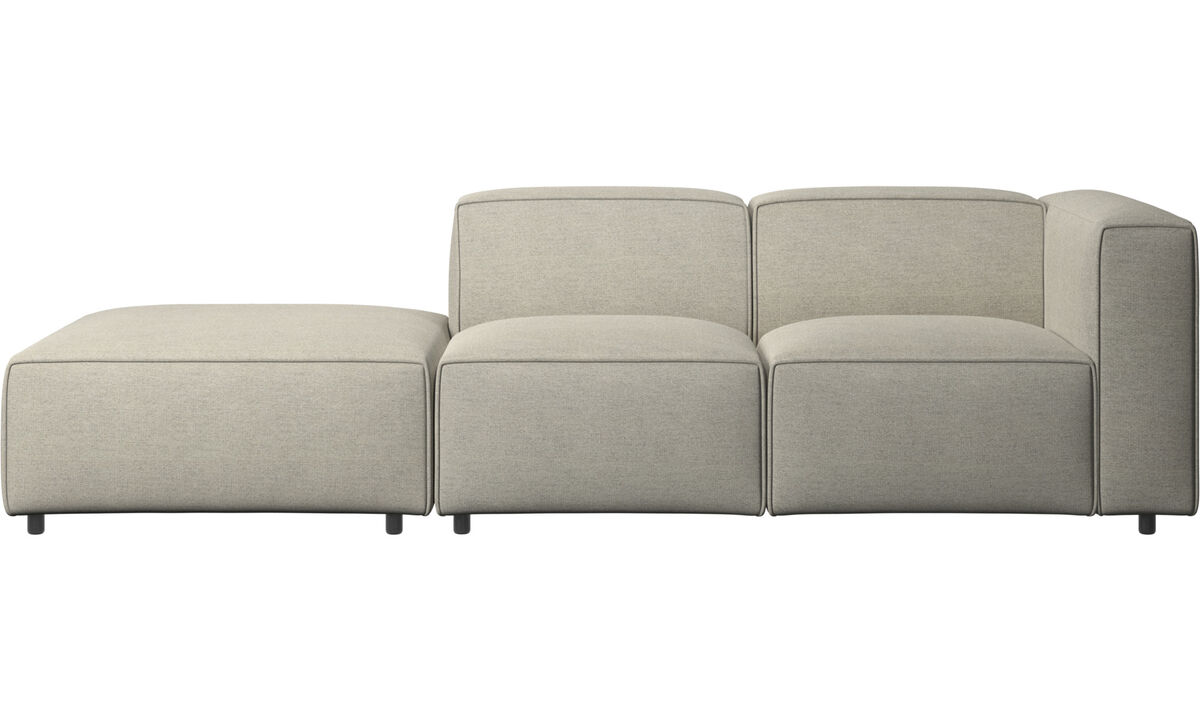 Sofas with open end - Carmo motion sofa - Beige - Fabric