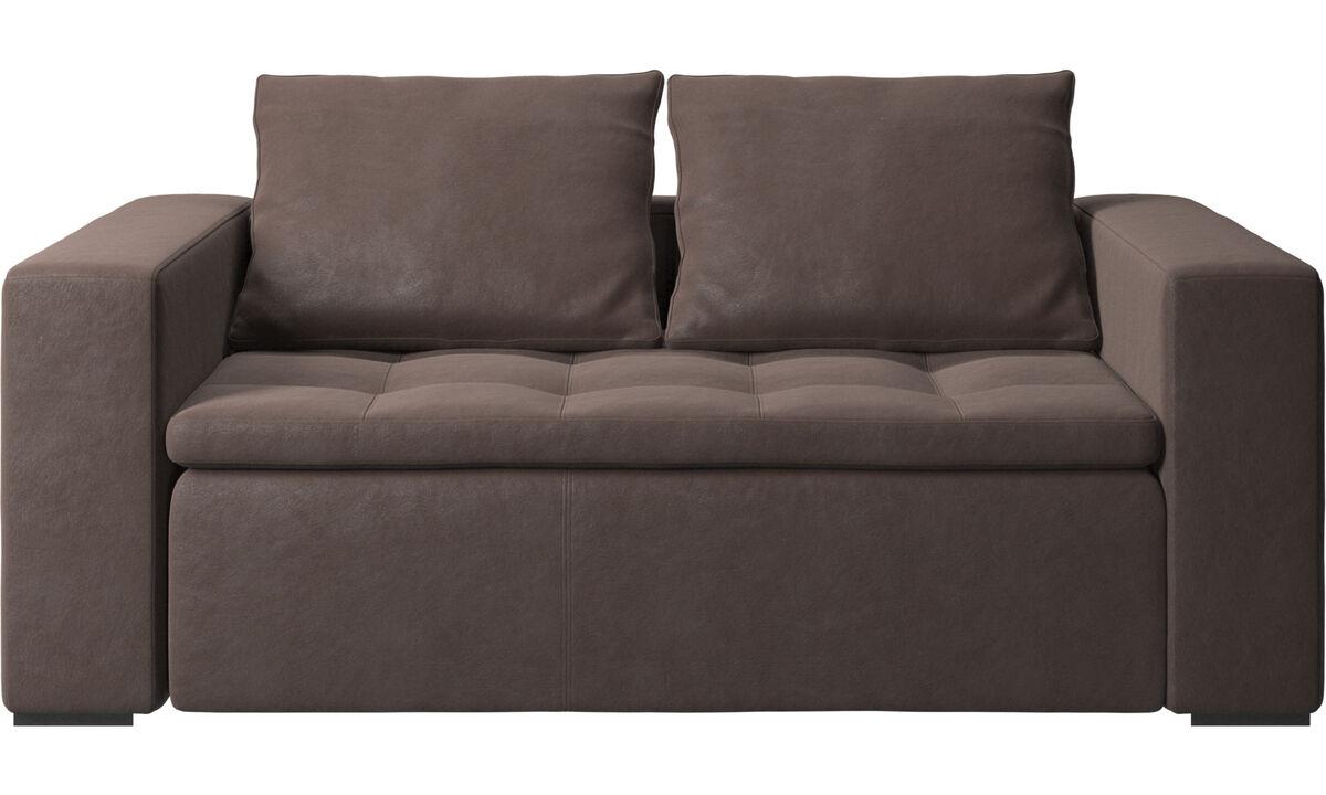 Sofás de 2 plazas - sofá Mezzo - En marrón - Piel