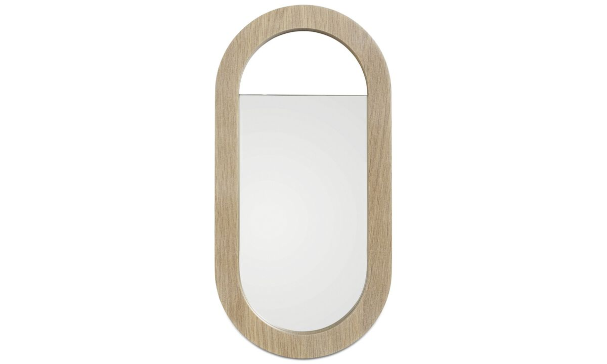 Mirrors - Living hand mirror - Brown - Oak