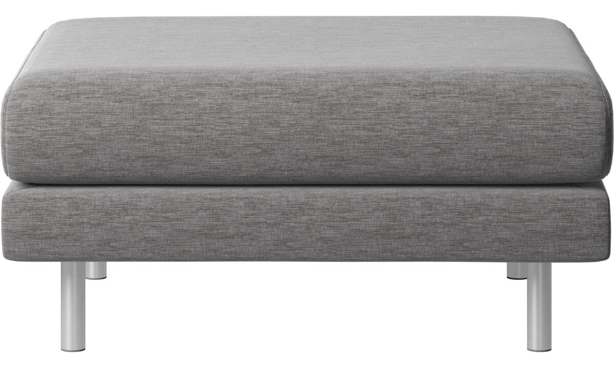 Ottomans - Fargo ottoman - Gray - Fabric