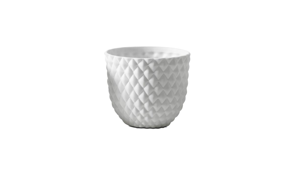 New designs - 3D structure tealight holder, Pineapple - White - Ceramic