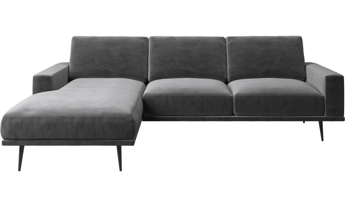 New designs - Carlton sofa with resting unit - Gray - Fabric