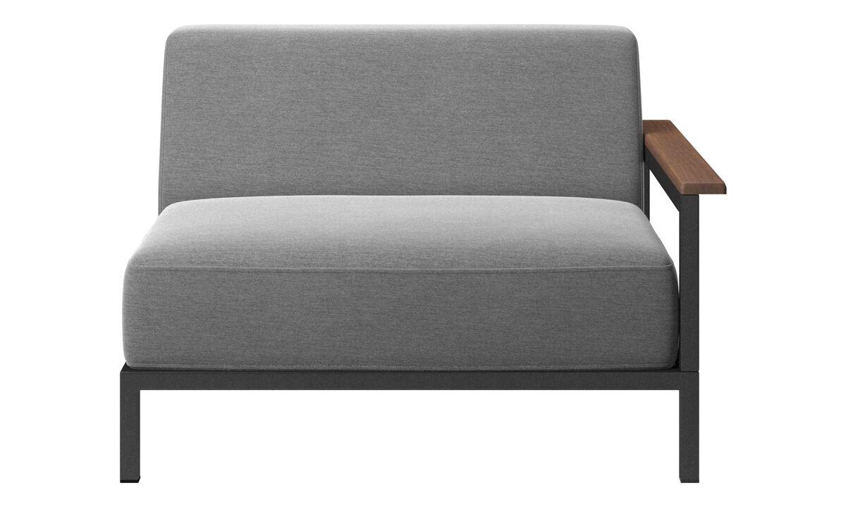 Sofás de exteriores - sofá de exteriores Rome - En gris - Tela