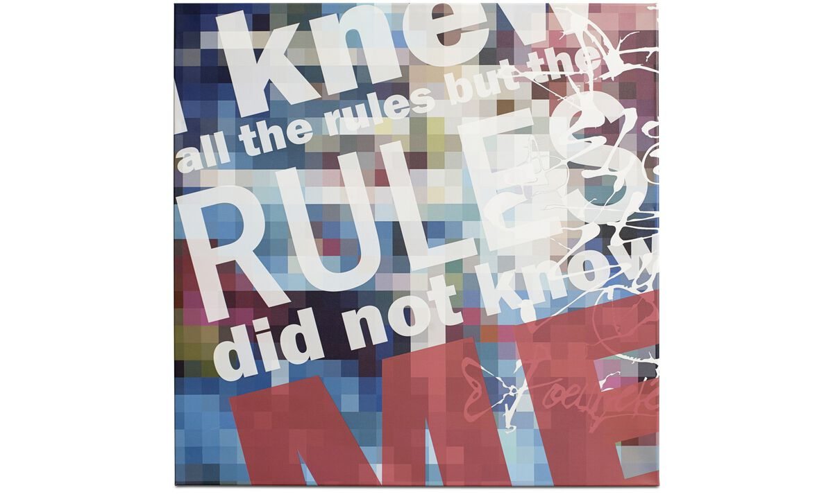 Galerie - Toile imprimée 'Rules' - Multicolore - Wood