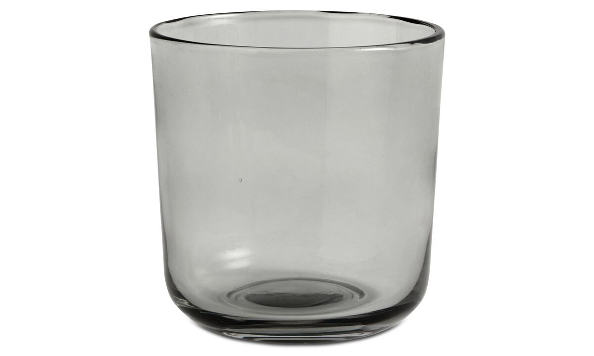 Dinnerware - nora drinking glass - Grey - Glass