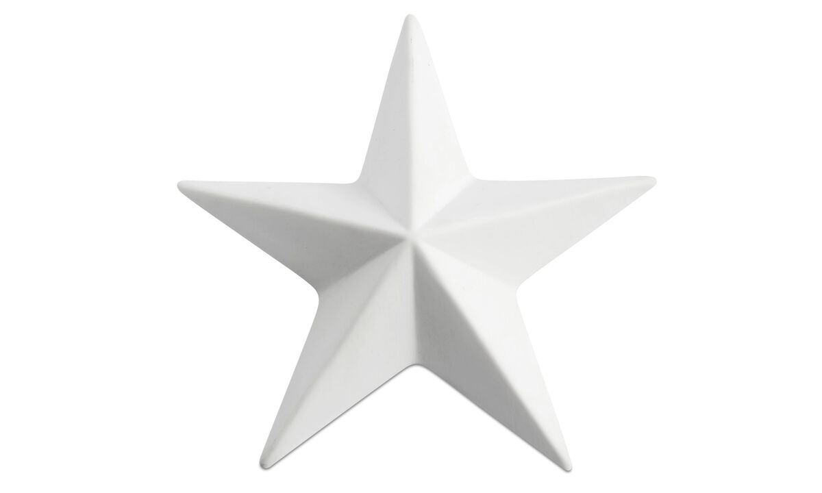 Skulpturen - Star ornament - Weiß - Keramik
