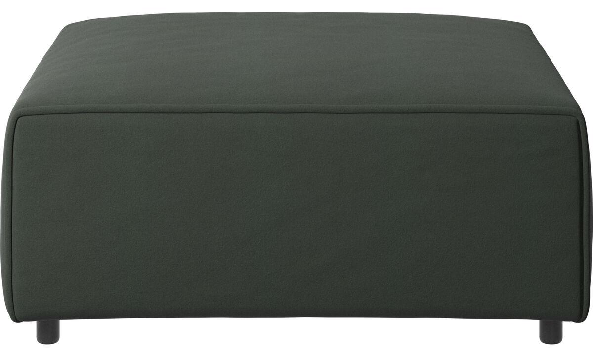 Sofás modulares - puf Carmo - En verde - Tela