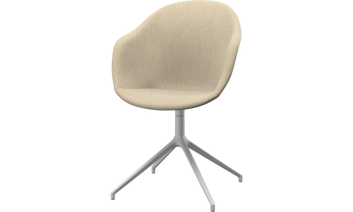 Dining chairs - Poltroncina Adelaide con funzione girevole - Marrone - Tessuto