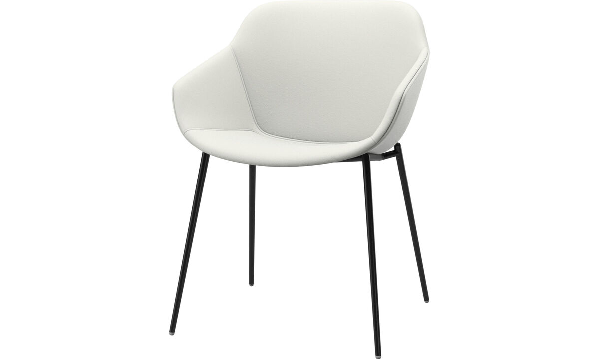 Dining chairs - Vienna chair - White - Leather