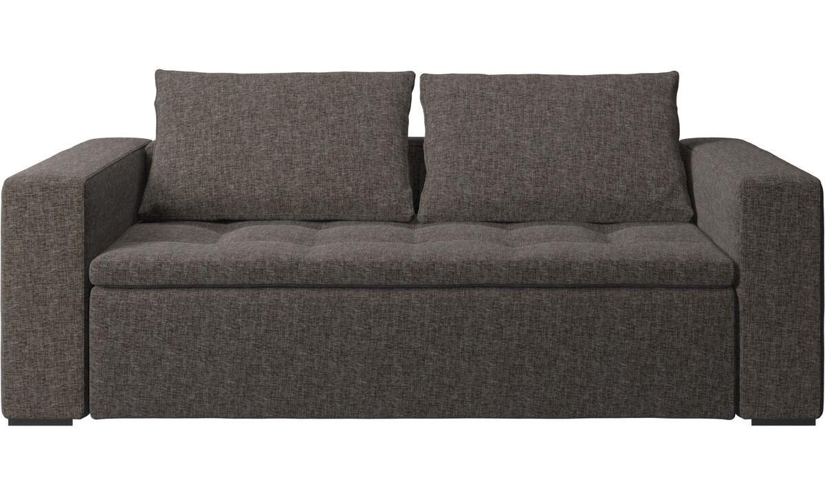 2½-sitzer Sofas - Mezzo Sofa - Braun - Stoff