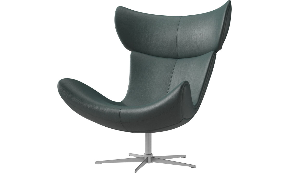 Armchairs - Imola chair with swivel function - Green - Fabric