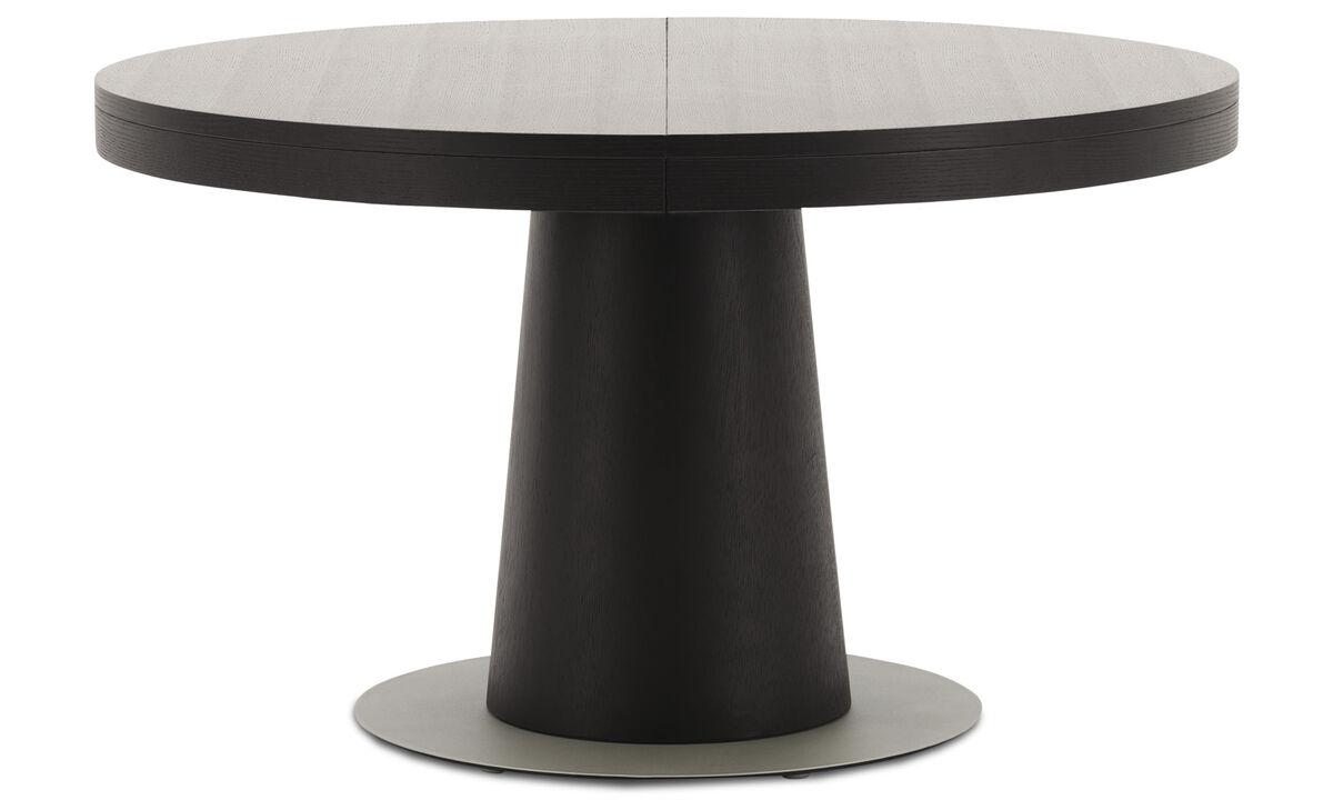 Mesas de jantar - Mesa Granada com tampo suplementar - redonda - Preto - Carvalho