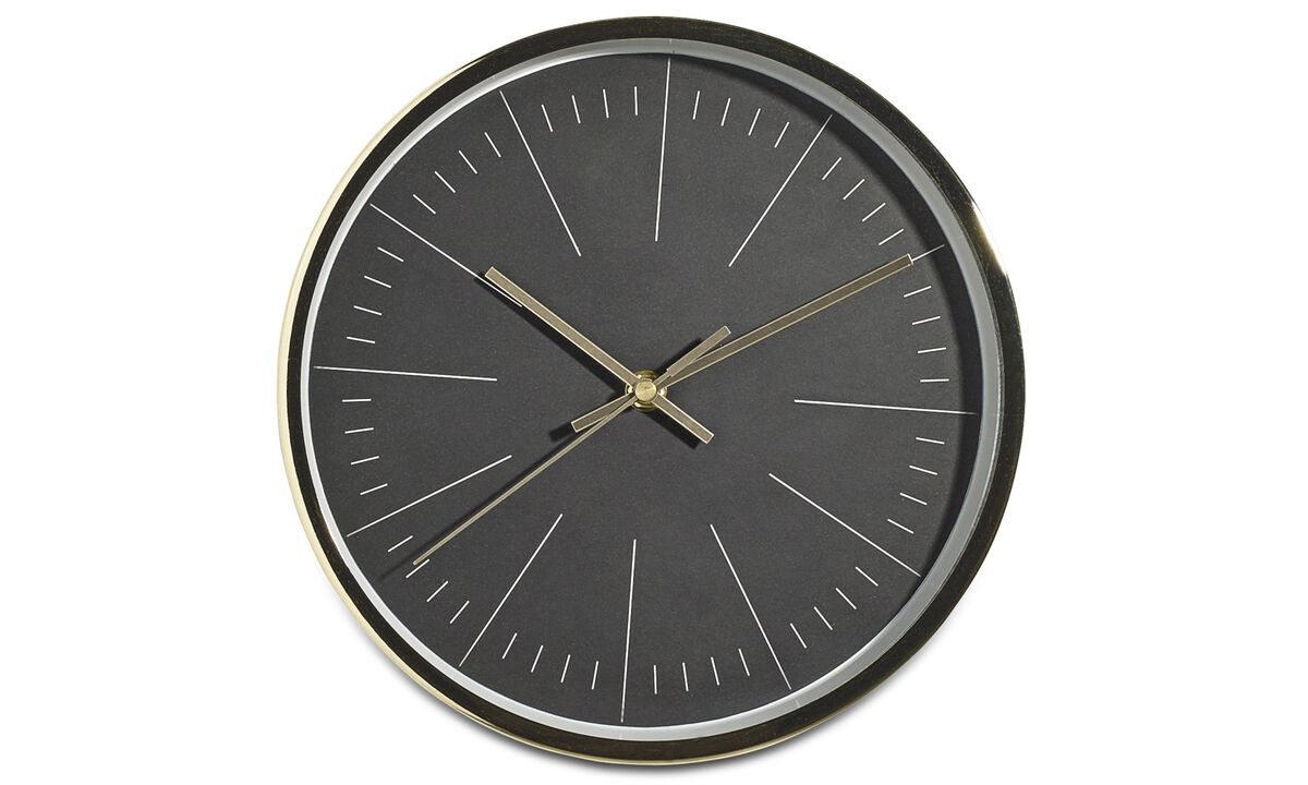 Ure - Ova wall clock - Sort - Metal