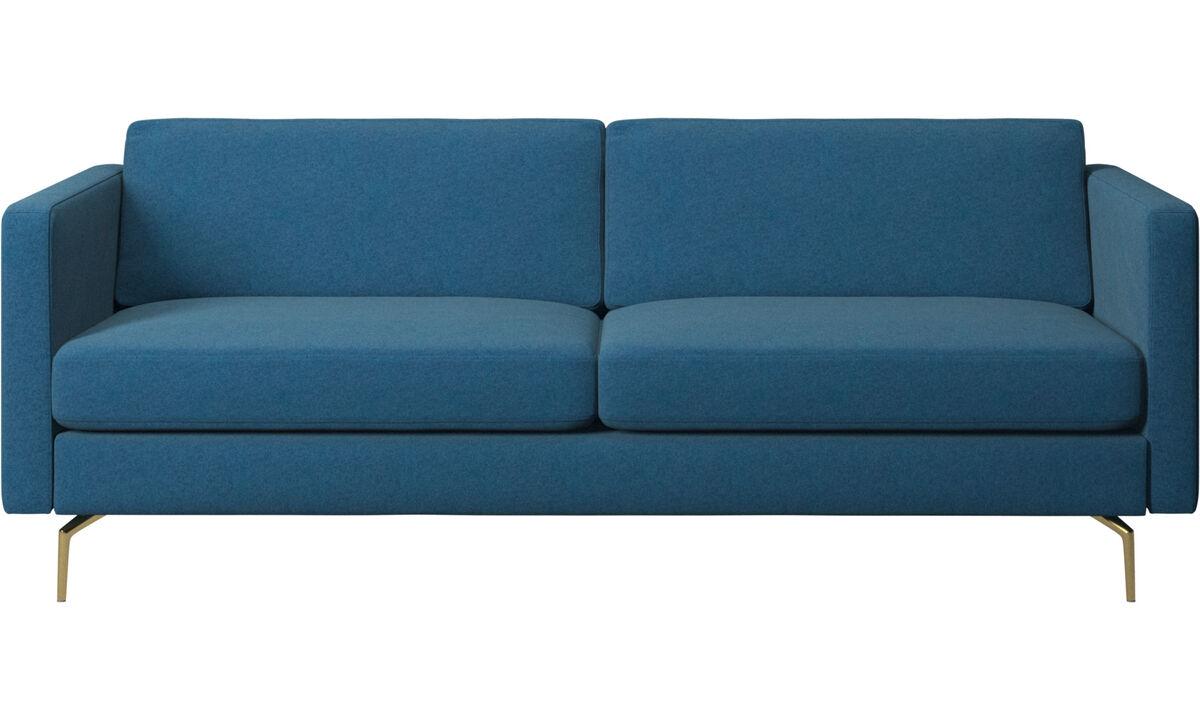 2.5 seater sofas - Osaka sofa, regular seat - Blue - Fabric