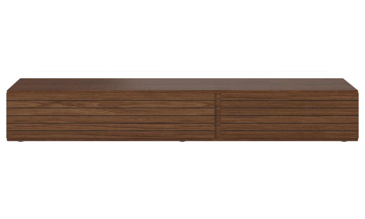 Tv units - Lugano base cabinet with drop-down doors - Walnut