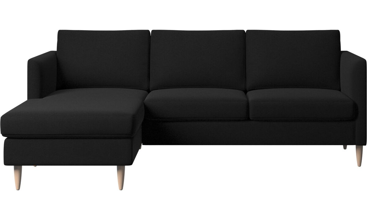 Chaise longue sofas - Indivi divano con penisola relax - Nero - Tessuto