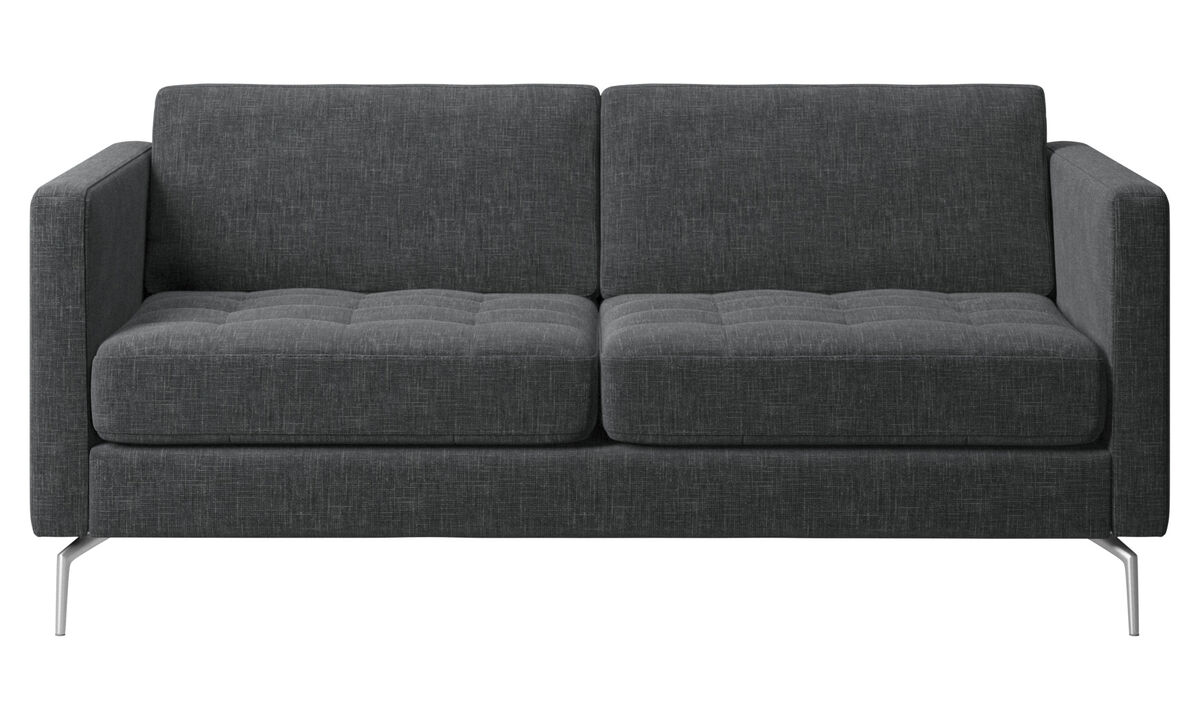 2 seater sofas - Osaka sofa, tufted seat - Gray - Fabric