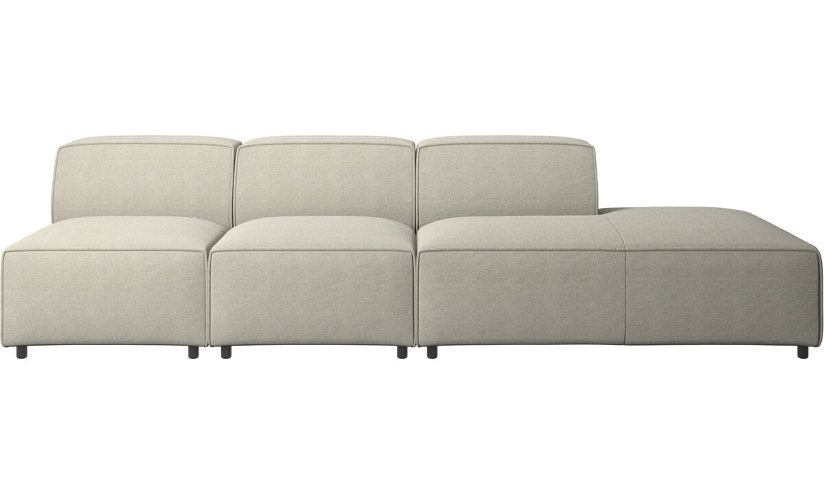 Sofas with open end - Carmo sofa with lounging unit - Beige - Fabric