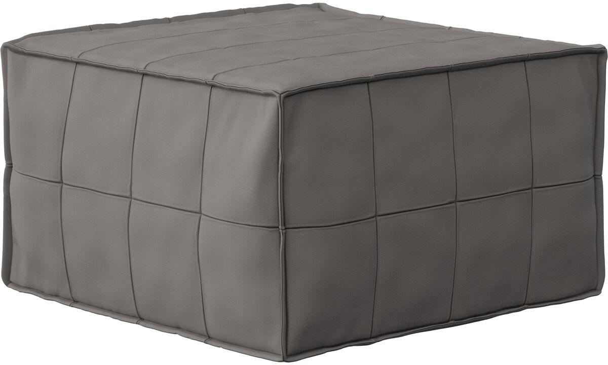 Sofás cama - Xtra puff com função de dormir - Bege - Couro