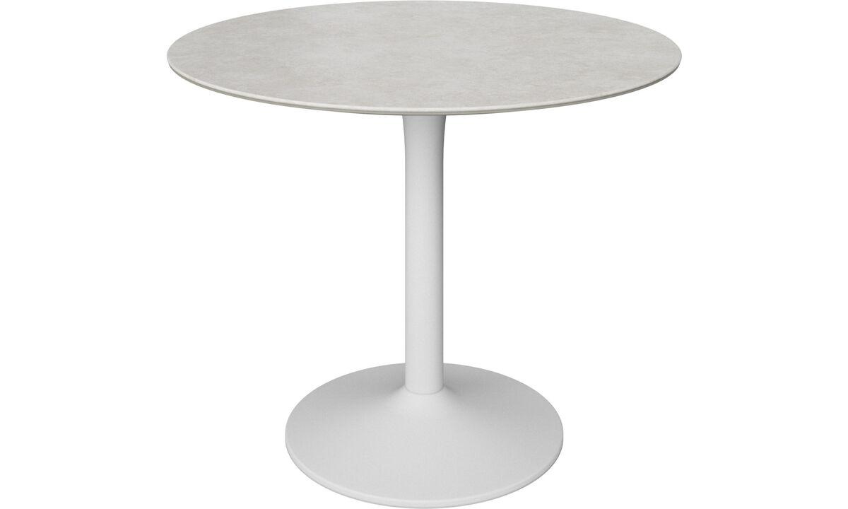 Mesas de comedor - Mesa New York - redondo - En gris - Cerámica