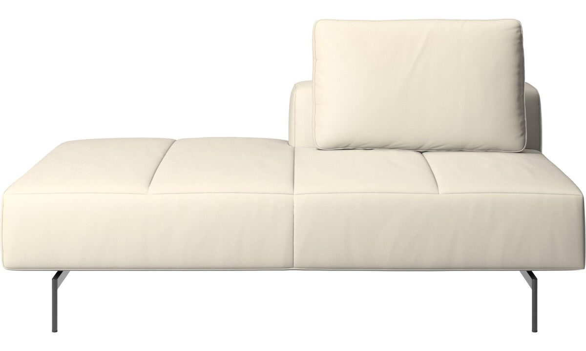 Sofás modulares - Módulo descanso para sofá Amsterdam, encosto traseiro direito, extremidade aberta esquerda - White - Couro