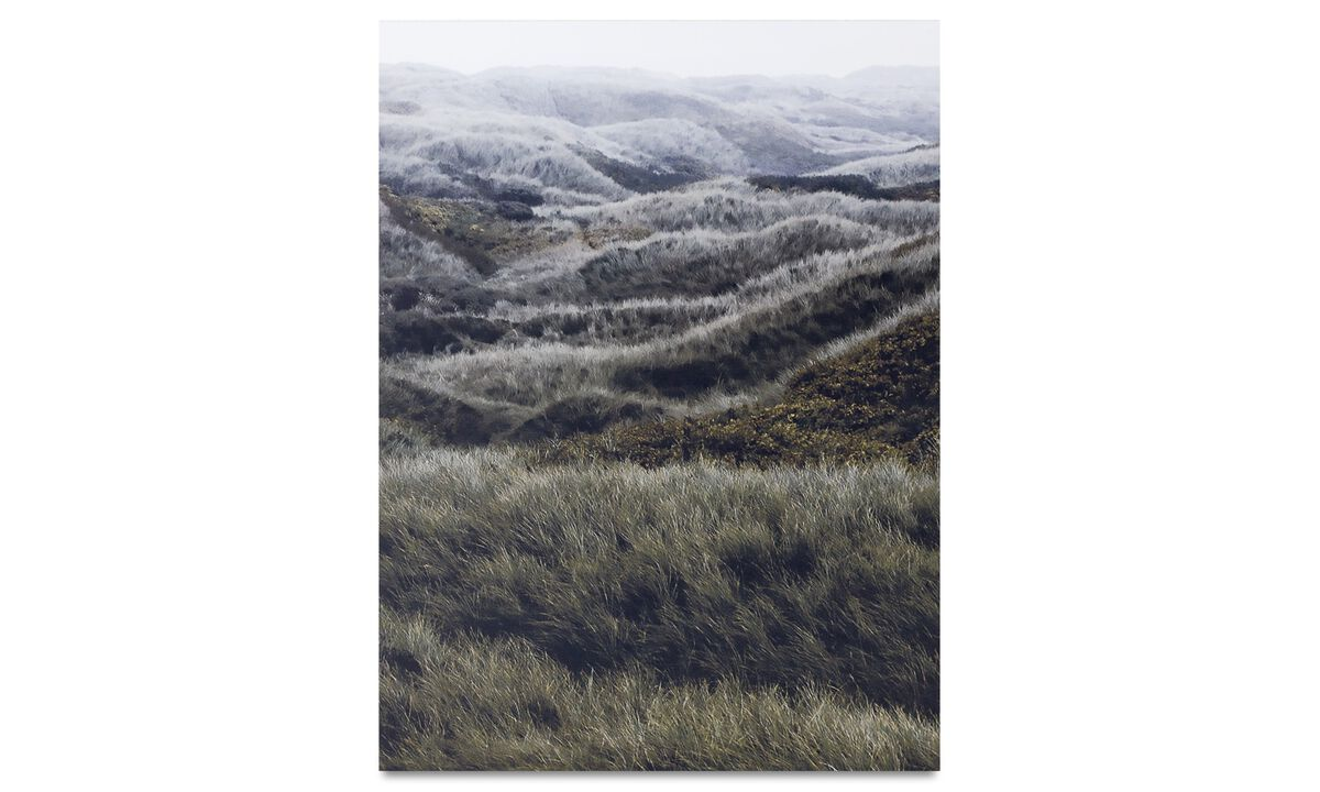 Galleri - North sea hills metal print - Metal