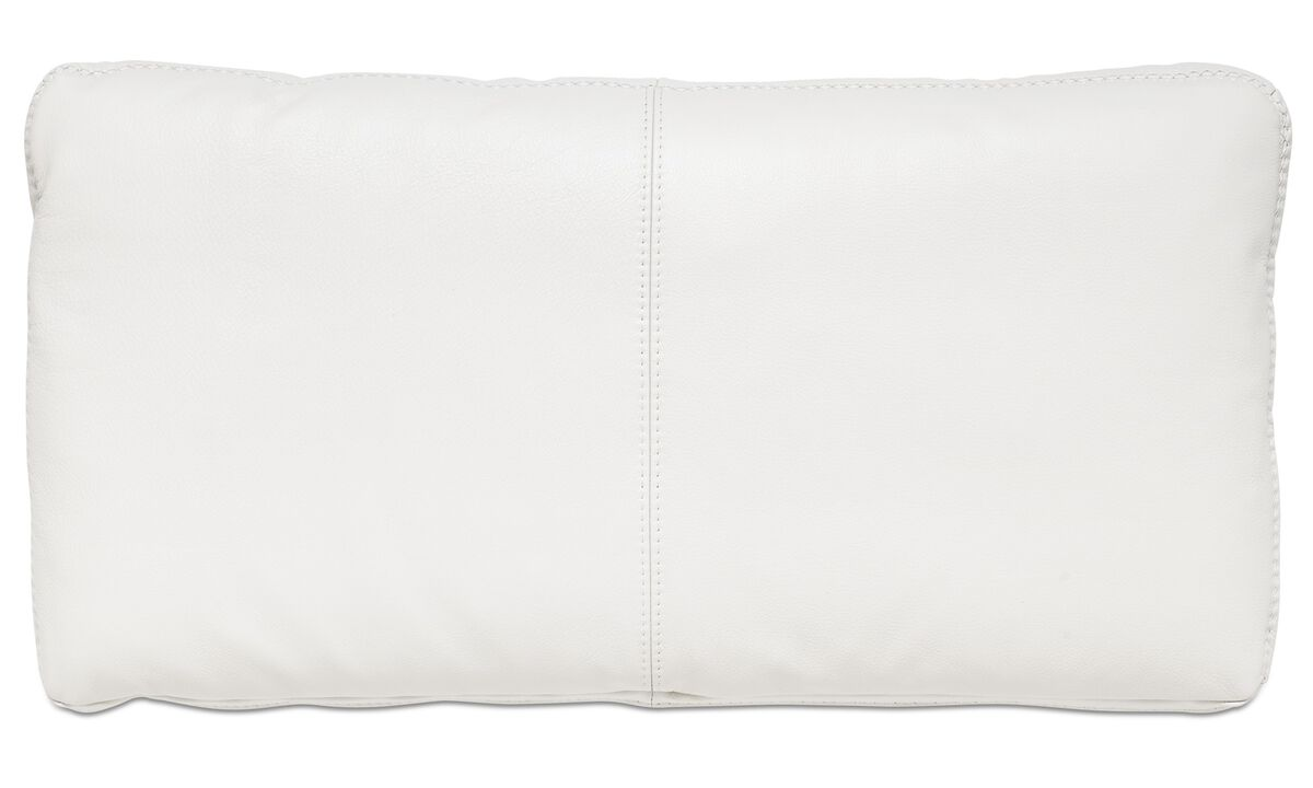 Sofa accessories - Hampton cushion - White - Leather