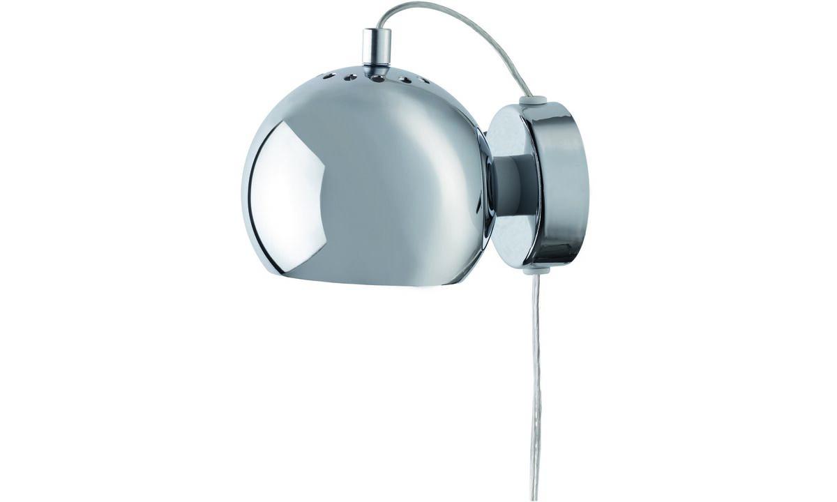 Svietidlá - Nástenná lampa Ball - Sivá - Kov