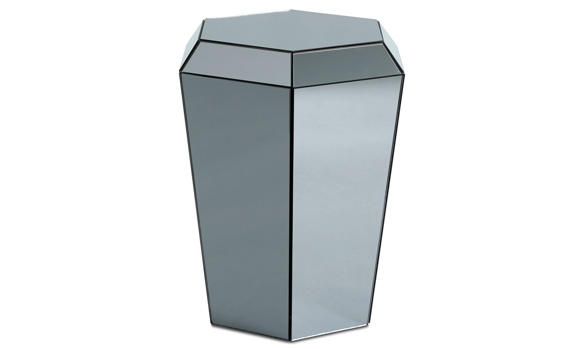 Night stands - Diamond mirror table - Grey - Glass