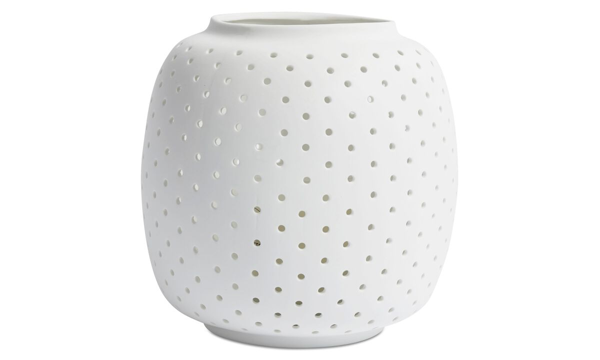 Candle holders - Cassiopeia lantern - White - Ceramic