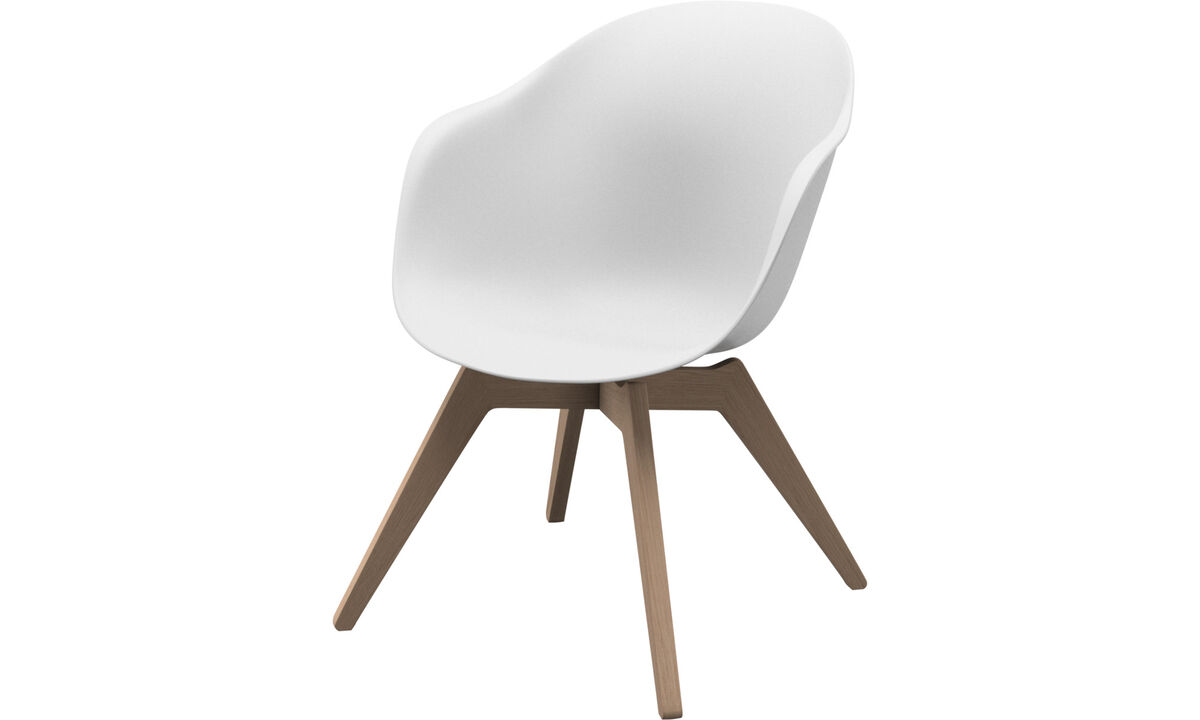 Armchairs and footstools - Adelaide lounge chair - White