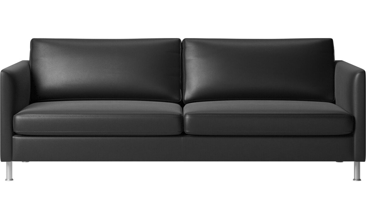 3-sitzer Sofas - Indivi Sofa - Schwarz - Leder