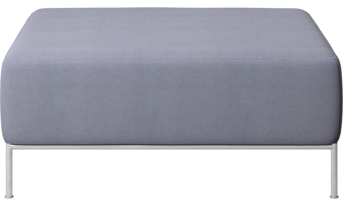 Footstools - Miami footstool - Blue - Fabric