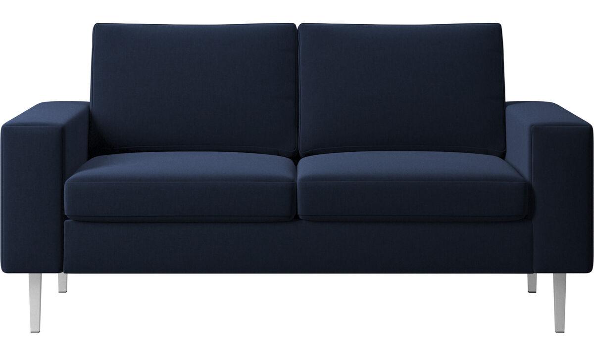 2 seater sofas - Indivi 2 sofa - Blue - Fabric