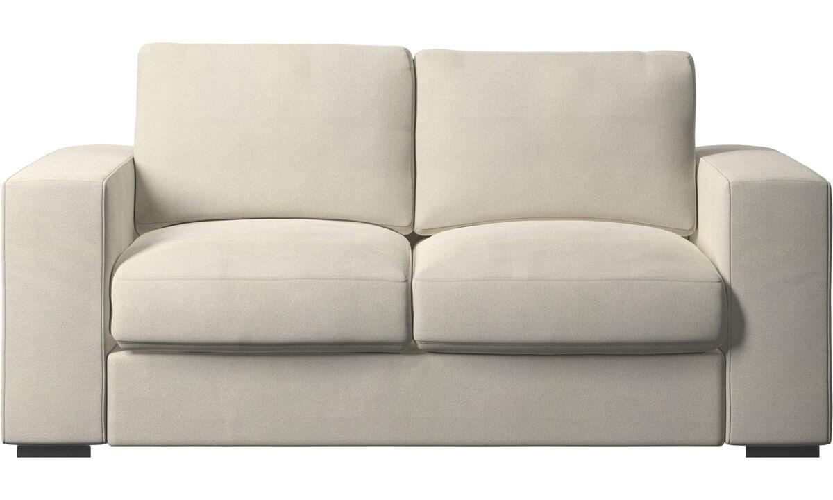 2 seater sofas - Cenova sofa - White - Fabric