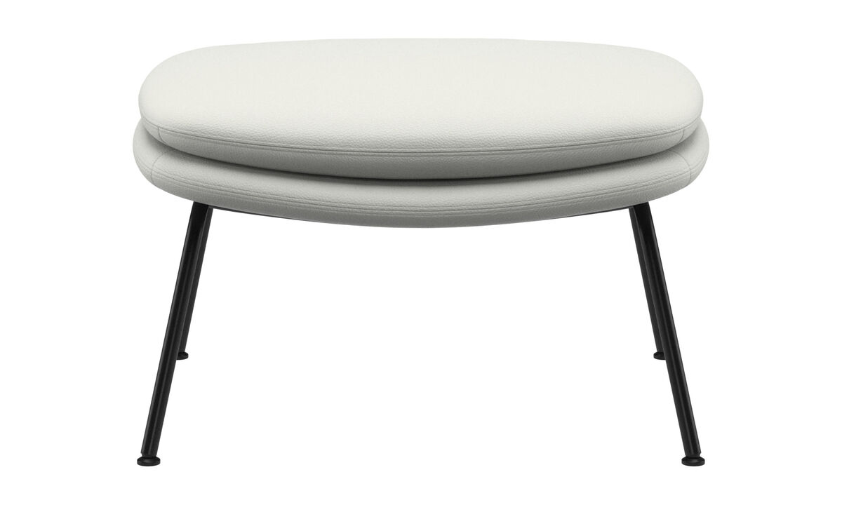 Footstools - Dublin footstool - White - Leather