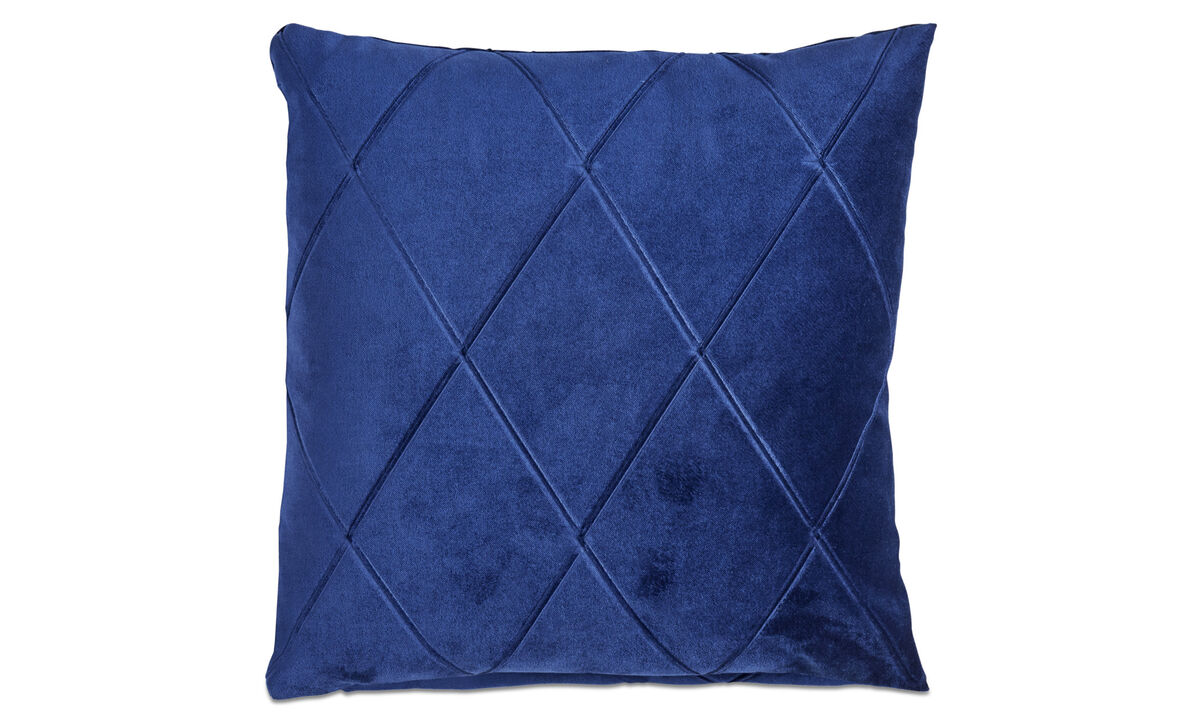 Patterned cushions - Harlekin cuscino - Blu - Tessuto