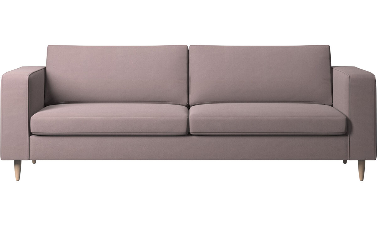 Sofás de 3 plazas - sofá Indivi - Morado - Tela