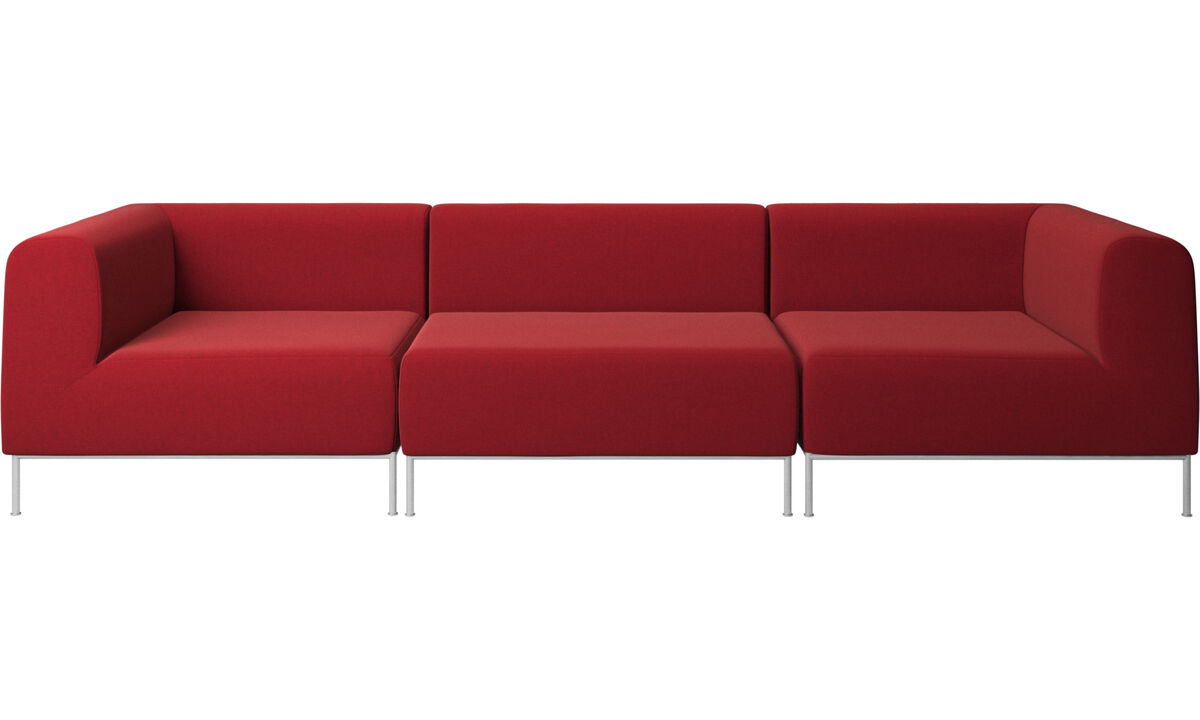 3 personers sofaer - Miami sofa - Rød - Stof