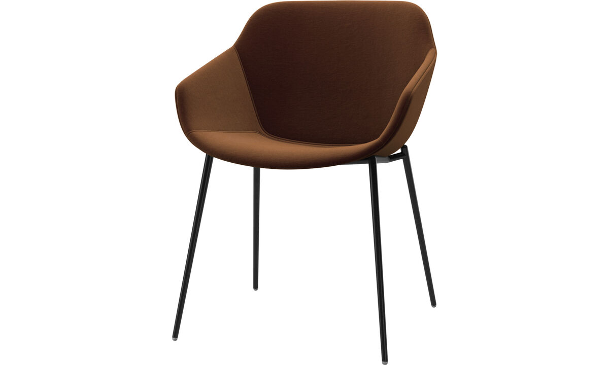 Dining chairs - Vienna chair - Brown - Fabric