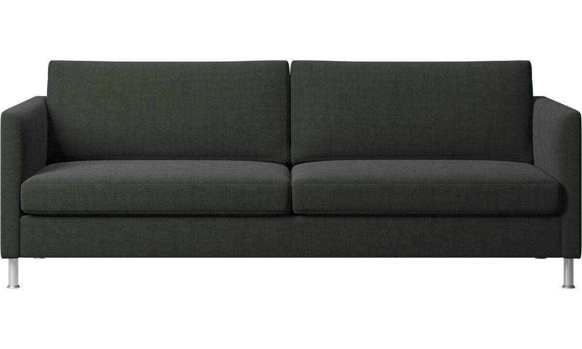 Sofás de 3 lugares - sofá Indivi - Verde - Tecido