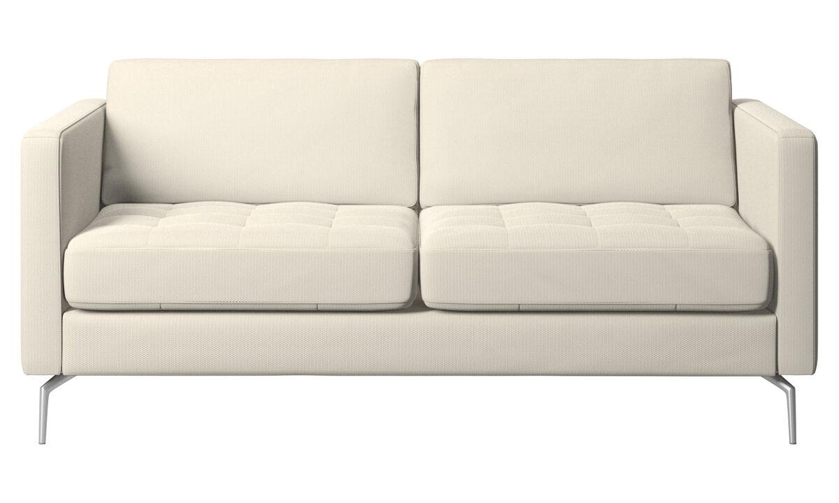 Sofás de 2 lugares - sofá Osaka, assento tufado - White - Tecido