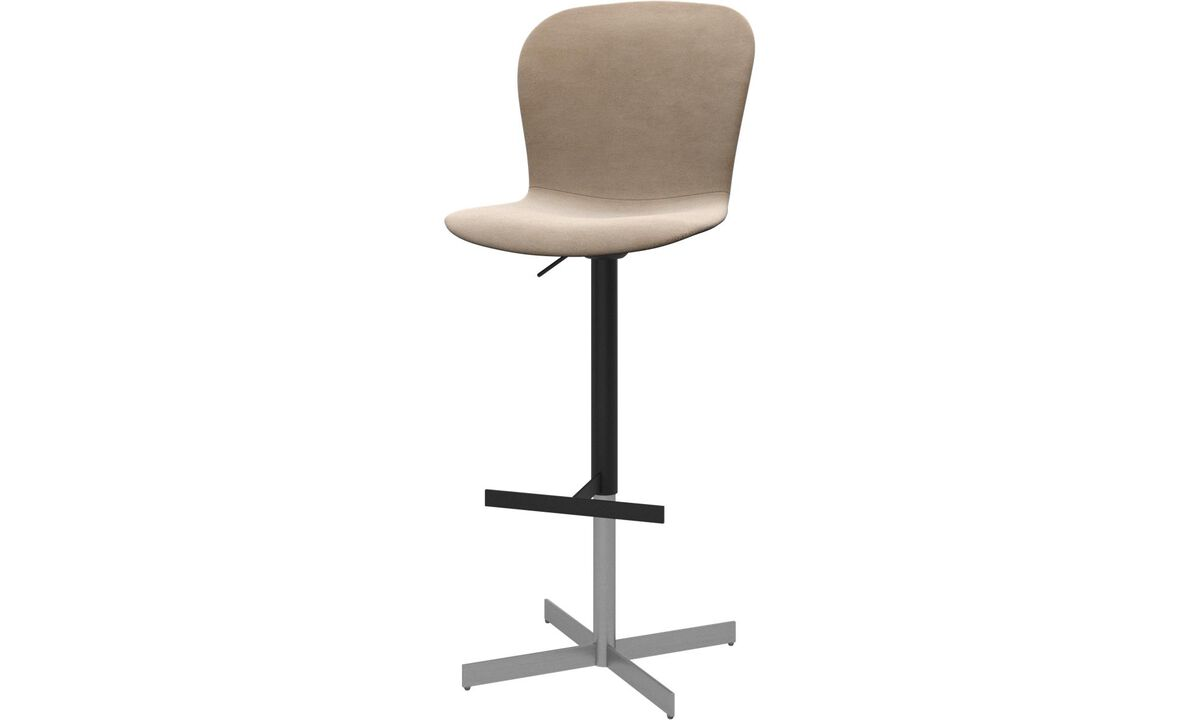 Bar stools - Adelaide barstool with gas cartridge - Beige - Fabric