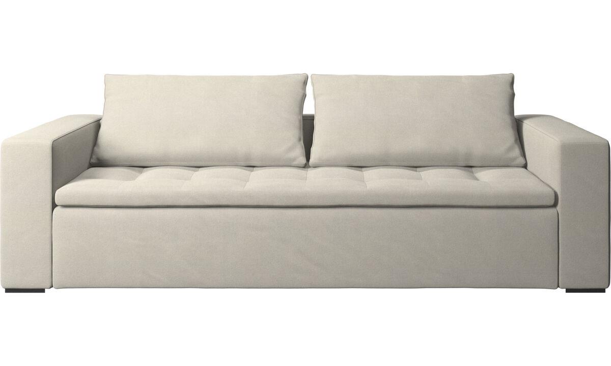 Sofás de 3 plazas - sofá Mezzo - Blanco - Tela