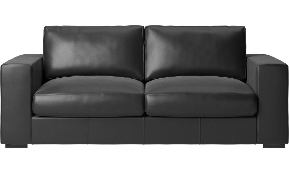 2.5 seater sofas - Cenova sofa - Black - Leather