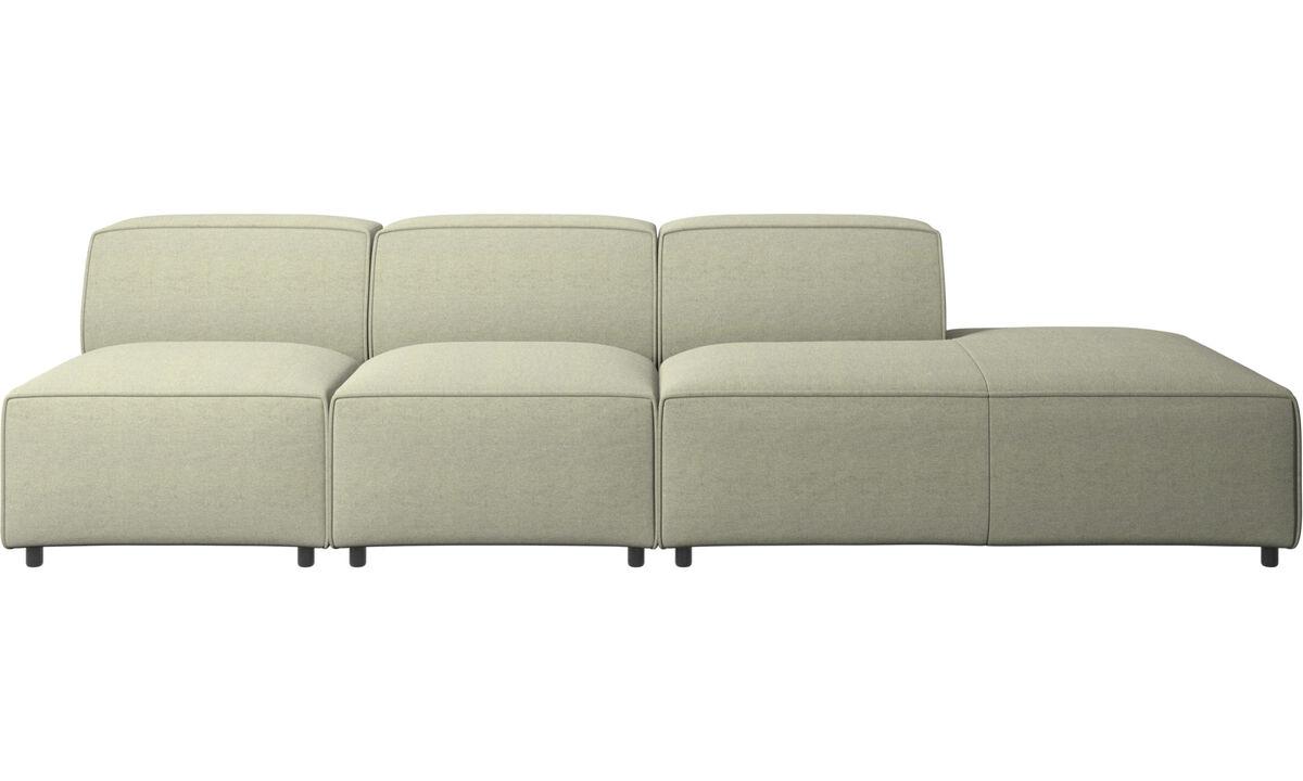Sofás con lado abierto - sofá Carmo con módulo de descanso - En verde - Tela