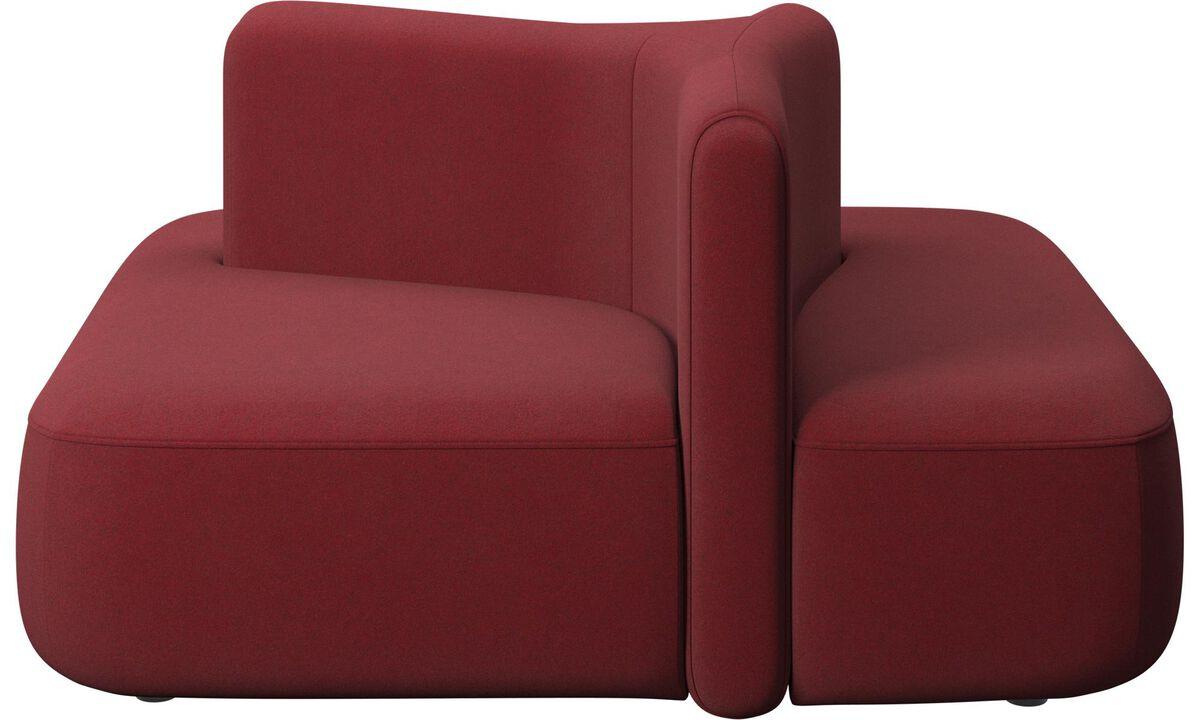 Modulære sofaer - Ottawa square med lav ryg - Rød - Stof